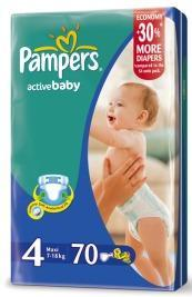 Pampers Active Baby, od 7 do 18 kg